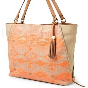 stella and dot the switch aztech coral tote
